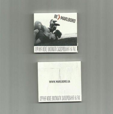 MARLBORO CIGARETTE ADVERTISING MATCHBOOK FROM UKRAINE
