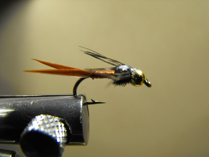 Copper John , Red - Brass Bead Head