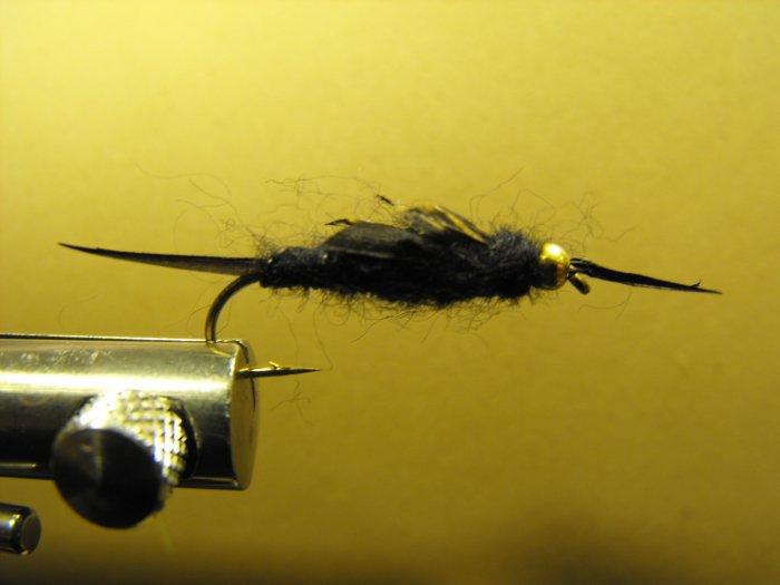 Stonefly, Black - Brass Bead Head
