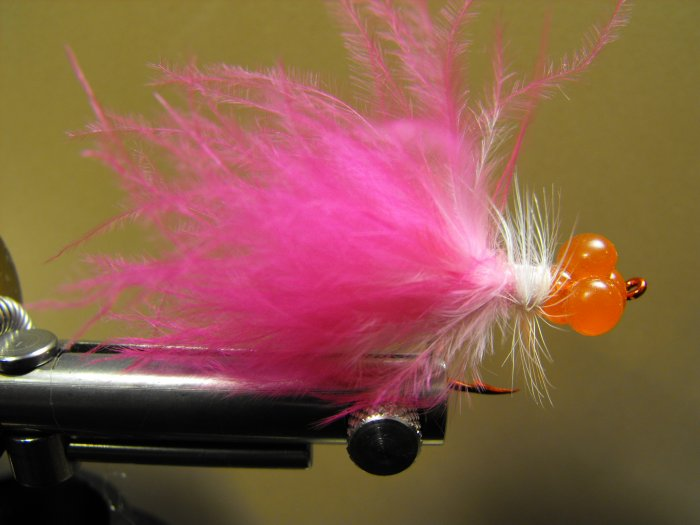 Cluster Glue Egg with Pink Marabou Tail