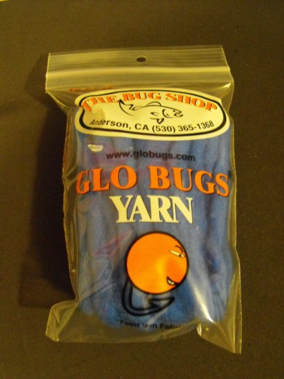 Glo Bugs Yarn, Dark Blue