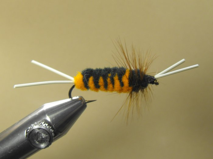 Blitz Creek Nymph - Black & Orange