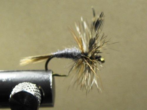 1 Dozen Winged Gray Adams - Dry Fly Trout