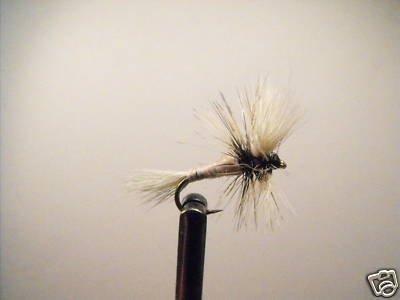 1 Dozen -  White Wulff  - Dry Fly -  Assortment