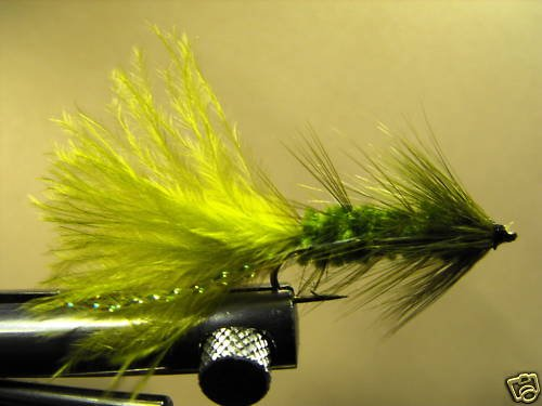 1 Dzn - Woolly Bugger - Trout or Pan fish -  Olive