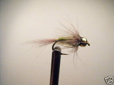 12 Brass Bead Blue Wing Olive  Nymph Wet Fly Trout