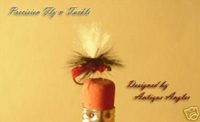 12  Parachute Red Ant Dry Fly Midge  - 18 & 20