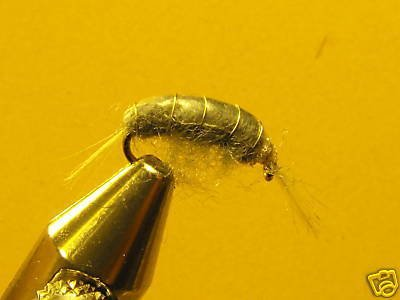 1 Dzn Gray Scud Nymph Wet Fly Trout