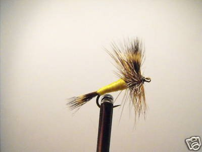 1 Dozen -  Yellow Wulff  - Dry Fly -  Assortment