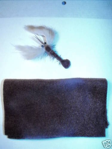 """10 sheets - Brown Furry Foam Fly Tying Material - 5""""x6"""""""