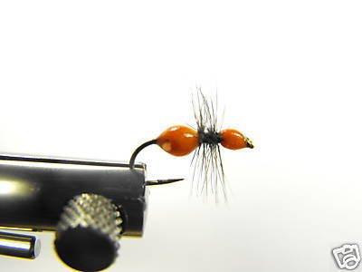 12  Wingless Orange Ant  - Dry Fly -  Assortment