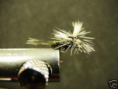 1 Dozen - Parachute Peacock - Midge Dry Fly - Trout