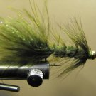 1 Dzn - BH Woolly Bugger - Trout or Pan fish -  Olive