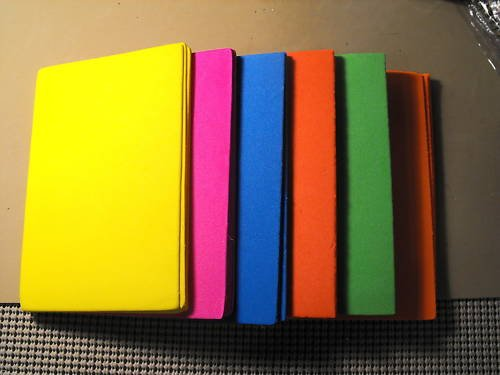 32  fly tying craft Foam Sheets, asst colors - 1.5 mm