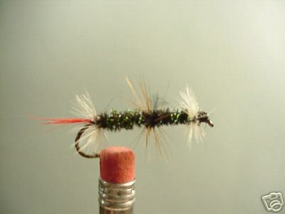 1 Dozen - Deluxe Peacock Renegade - Wet Fly Streamer