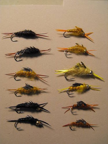 1 dozen - Assorted Stonefly Nymph - Trout Wet Fly
