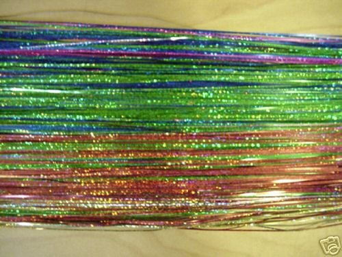 """Color - Holographic Fly Flash for Fly Tying, 1/16"""" Wide"""
