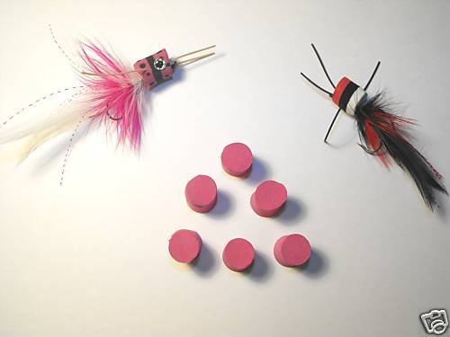 6 - 1 inch - Foam Popper Body - Fly Tying Color Choices