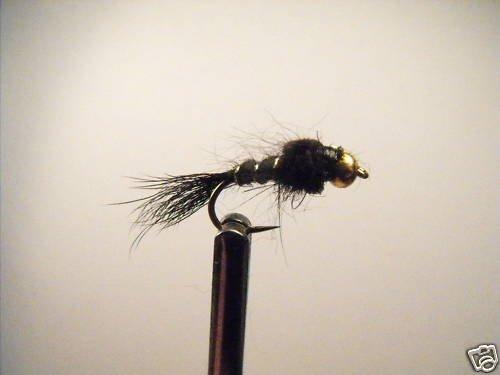 1 Dzn -  BH Black Hare's Ear -  Assortment  Trout