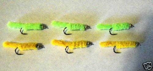 6 Green & Golden Weenie Wet Fly Trout Steelhead Salmon