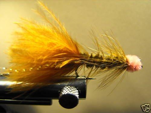 1 Dzn - Woolly Bugger Leech Trout or Pan fish -  Brown