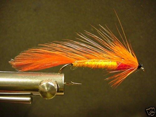 12 Orange Matuka Wet Fly - Trout, Salmon, Steelhead