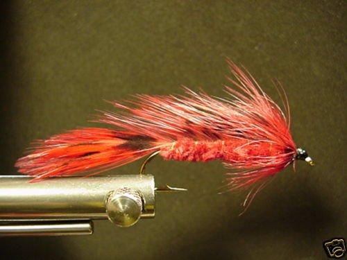 1 Dozen Red Matuka Wet Fly - Trout, Salmon, Steelhead