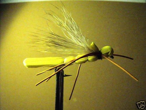 1 Dzn  - Foam Yellow Hopper  Dry Fly Assortment