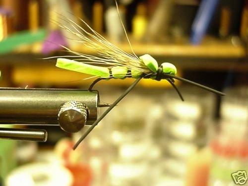 1 Dzn  -  Chartruce Grass Hopper - Dry Fly Assortment