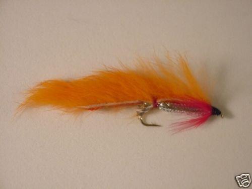 1 Dozen Orange Zonker Wet Fly Trout Steelhead