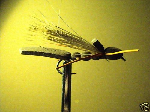 1 Dzn  - Foam Green Hopper  Dry Fly Assortment