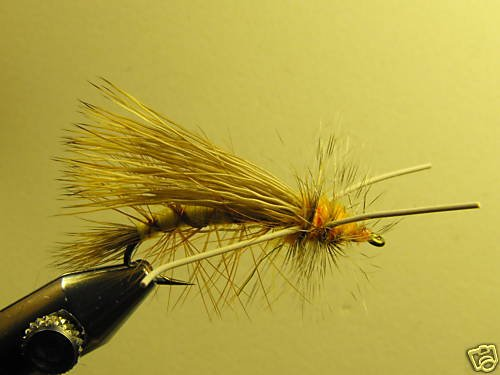 1 Dzn - Rubber Leg Stimulator Olive Dry Fly Assortment