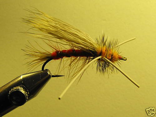1 Dzn - Rubber Leg Stimulator Red Dry Fly Assortment