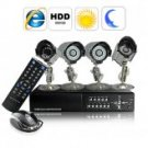 Complete Surveillance Kit (H246 DVR + 4 SONY CCD Weatherproof Camera + 500GB HDD)