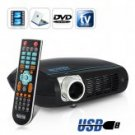 Multimedia LED Projector with Built-in DVD Player (USB, HDMI, VGA, AV, ATSC) CVPD-E165