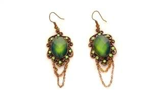 Green Emerald Vintage Earrings
