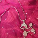 Poodle Silver Necklace