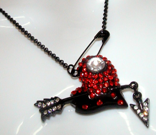 Rock Red Cupid Black Necklace