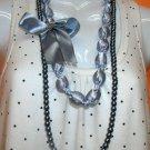 Roxette Dark Grey 2-layer Necklace