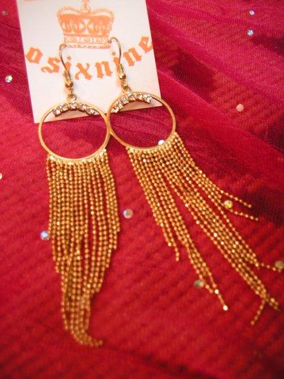 Lovely Halle Gold w Diamonds Earrings