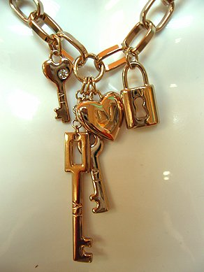 Lock, Heart & Keys Chain Necklace