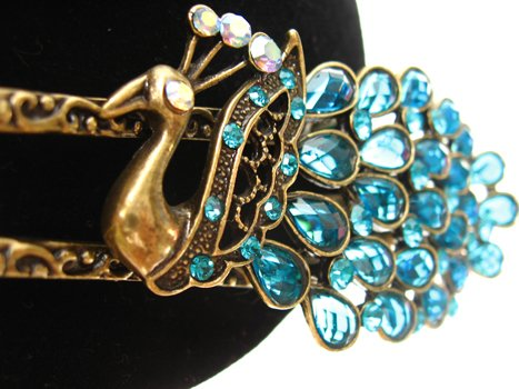 Turquoise Peacock Hairclip