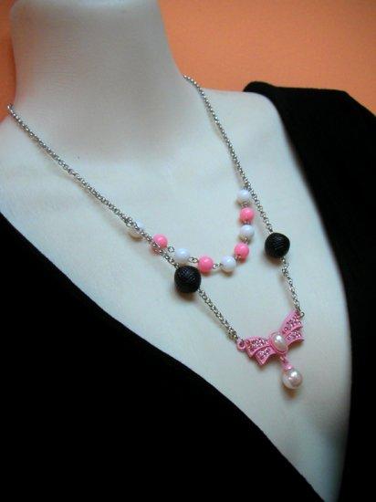 Sizuka Pink 2layer Necklace