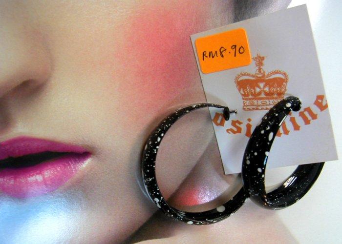 Sprinkle Black Earrings