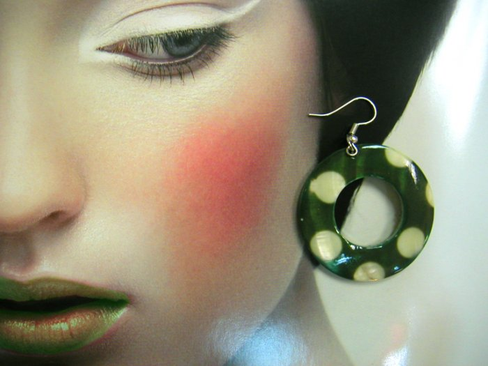 Nancy Green Polka Dot Earrings