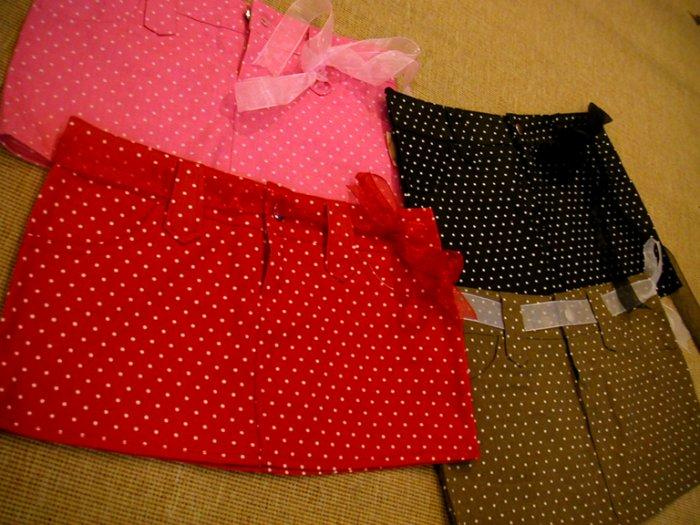 DollySass Super Short Polka Dot Skirts