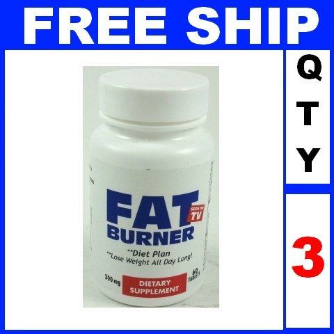NEW 3 Bottles FAT BURNER as seen on TV diet pills plan Exp 2015 (180 tablets/Lot)