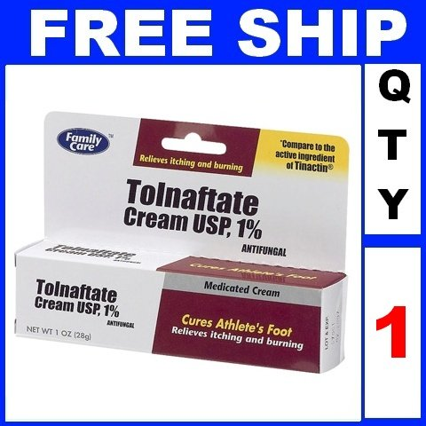 NEW 1 Tube FAMILY CARE TOLNAFTATE 1% athletes foot cream antifungal 2014 (1oz/Tube)