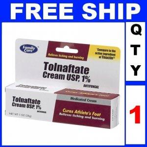NEW 1 Tube FAMILY CARE TOLNAFTATE 1% athletes foot cream antifungal 2014 (1oz/Tube)