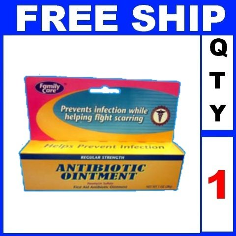 NEW 1 Tube Family Care First Aid ANTIBIOTIC OINTMENT Neomycin (1oz/Tube)